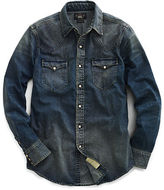 Ralph Lauren RRL Slim Dark Denim Western Shirt