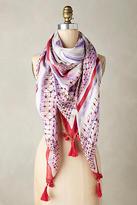 Anthropologie Tasseled Tie-Dye Square Scarf