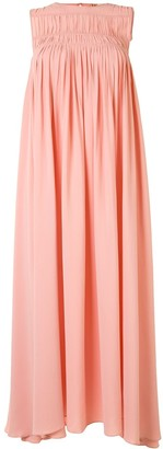 No.21 Pleated High-Low Sleeveless Dress