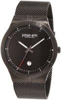 Johan Eric Men's JE3004-13-007B Skive IP Mesh Stainless Steel Date Watch