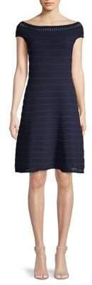 Eliza J Ribbed Off-the-Shoulder Dress