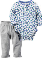 Carter's 2-pc. Floral Bodysuit and Pants Set - Baby Girls newborn-24m