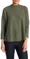 Bobeau Mock Neck Knit Sweater (Petite)