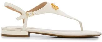 Lauren Ralph Lauren Logo Plaque Flat Sandals