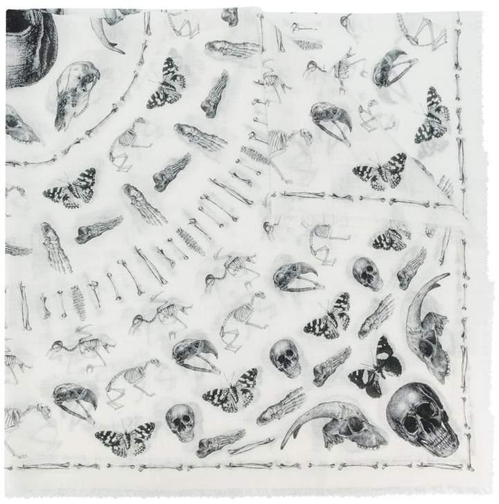 Alexander McQueen skull and moth scarf