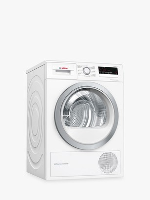 Bosch Series 4 WTW85231GB Heat Pump Freestanding Tumble Dryer, 8kg, A++ Energy Rating, White