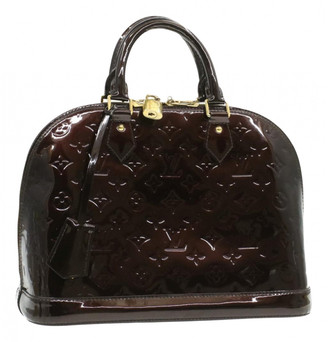 Louis Vuitton Alma Burgundy Patent leather Handbags