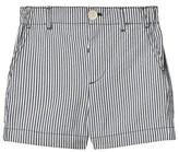 Burberry Blue Seersucker Shane Welt Shorts