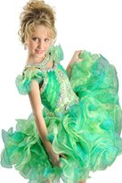 HuaMei Toddler Girls Organza Ruffled Sleeves Birthday Party Cupcake Pageant DressesT US