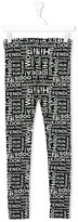 Fendi teen printed leggings - kids - Cotton/Spandex/Elastane - 14 yrs