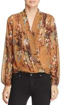 d.RA Fabe Crossover Floral-Print Top