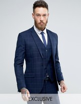 ONLY & SONS Super Skinny Suit Jacket In Textured Check