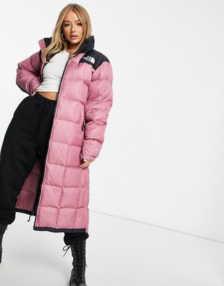 The North Face Lhotse duster jacket in pink