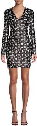 Black Halo Alicia Starry Mini Bodycon Dress