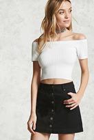 Forever 21 FOREVER 21+ Contemporary Denim Mini Skirt