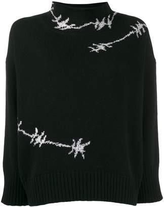 Ermanno Scervino glass-embellished knit sweater