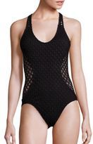 Milly One-Piece Netting Martinique Swimsuit