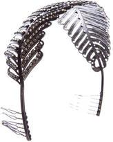 Erickson Beamon Crystal Feather Hairband
