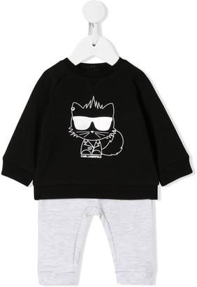 Karl Lagerfeld Paris Choupette print pajama set