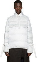 Sacai Grey & White Down Jacket