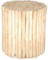 Jeffan Decorative Prelude Rustic Round Wooden Stool