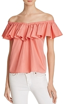 Rebecca Taylor Off-the-Shoulder Ruffle Top