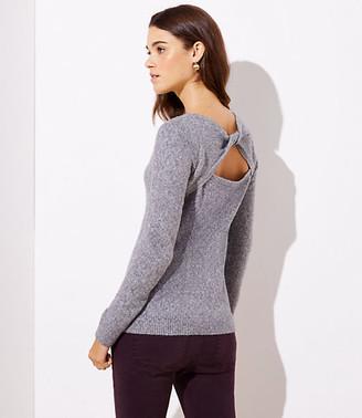 LOFT Twisted Back Cutout Sweater