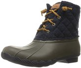 Sperry Women's Saltwater Quilted Wool Tobacco Rain Boot