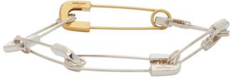 Ambush SIlver and Gold Safety Pin Link Bracelet