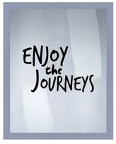 """PTM Images Enjoy The Journeys Framed Silkscreen Wall Art - 16.75\"""" x 20.75\"""""""