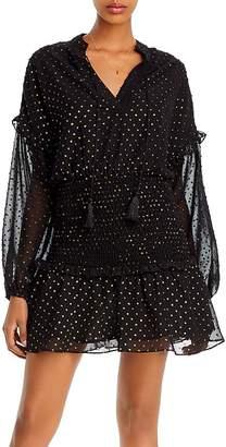 Aqua Metallic Clip Dot Mini Dress - 100% Exclusive