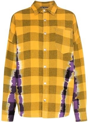 Palm Angels Tie-Dye Check Overshirt