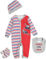 Buster Brown Red 'Daddy's Little Helper' Four-Piece Layette Set - Infant