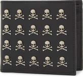 Philipp Plein Menadel skull textured leather wallet