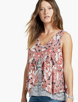 Lucky Brand Floral Double Layer Tank