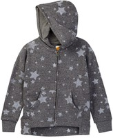 C&C California French Terry High Low Dolman Zip Hoodie (Big Girls)
