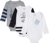 Burberry Graphic print cotton body suit set three pieces 3-9 months