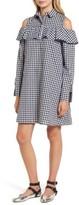 BP Women's Ruffle Cold Shoulder Dress