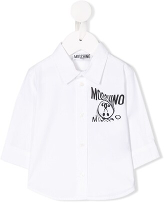 MOSCHINO BAMBINO Printed Logo Shirt