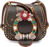 Miu Miu Dahlia embellished leather cross-body bag