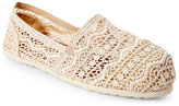 Esprit Ivory Toso Aztec Crochet Slip Ons