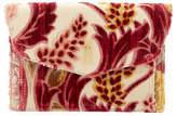 Hayward Bobby Cremisi Velvet Brocade Clutch Bag