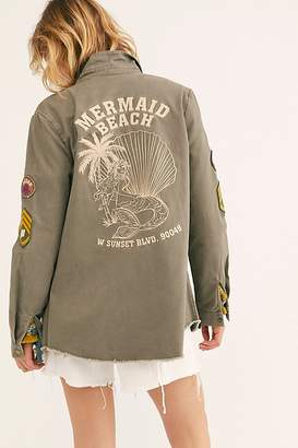 Free People Mermaid Twill Jacket by Spell and the Gypsy Collective at Free People, Khaki, XS