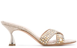 Casadei Stud Detail 70mm Sandals