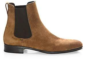 Salvatore Ferragamo Men's Darien Original Castoro Suede Ankle Boots