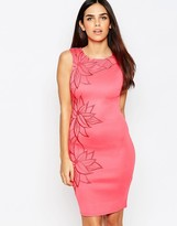 Lipsy Michelle Keegan Loves Dress with Floral Embellishment