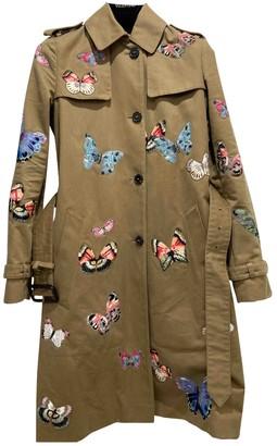 Valentino Khaki Cotton Trench Coat for Women