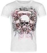 Character Mens Printed Skull T Shirt Crew Neck Tee Top Short Sleeve Cotton Print