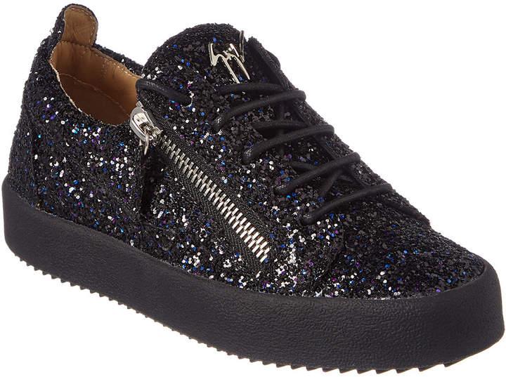 Giuseppe Zanotti Glitter Leather Low-Top Sneaker