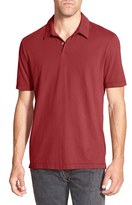 James Perse Men's Trim Fit Sueded Jersey Polo